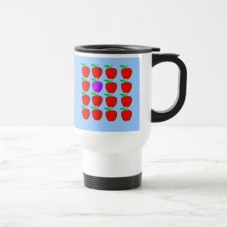 Manzanas para las camisetas y los productos de la  taza de café