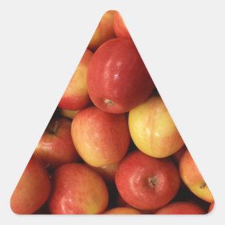 Manzanas Calcomanía De Triangulo