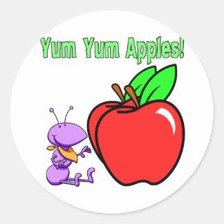 Manzanas Etiquetas Redondas