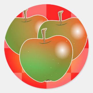 Manzanas Etiqueta Redonda