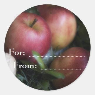 Manzanas • Pegatina del navidad