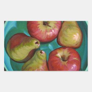 Manzanas Pegatina Rectangular