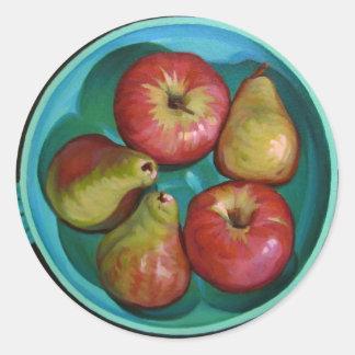 Manzanas Pegatina Redonda