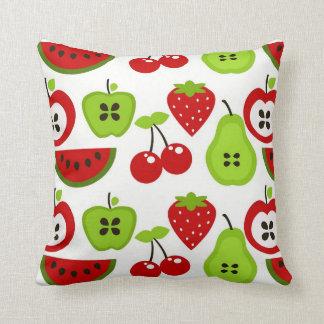 Manzanas peras cerezas Watermelon jpg Almohada