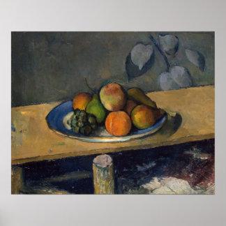 Manzanas, peras y uvas, c.1879 póster