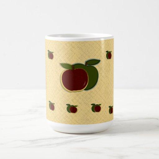 Manzanas pintadas (oro texturizado) grandes taza de café