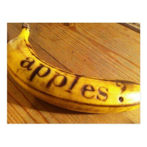 ¿manzanas? ¿plátanos? tarjetas postales