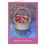 Manzanas por un año dulce felicitacion