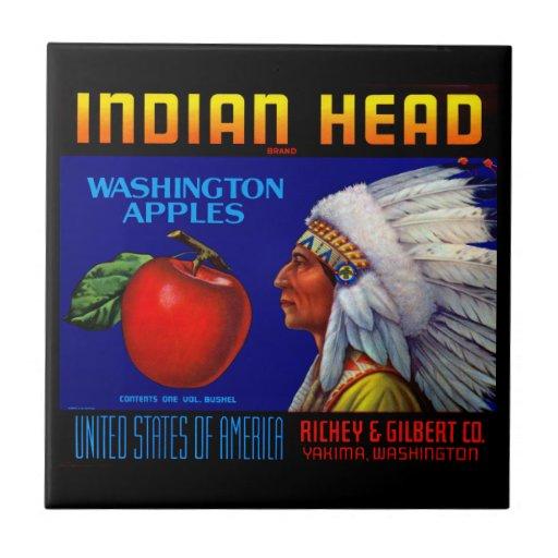 Manzanas principales indias de Washington Tejas Cerámicas