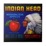 Manzanas principales indias de Washington Azulejo Cuadrado Pequeño