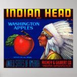 Manzanas principales indias de Washington Posters