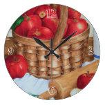 Manzanas - reloj de la cocina