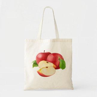Manzanas rojas bolsa tela barata