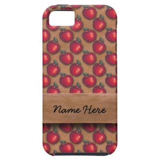 Manzanas rojas Brown iPhone 5 Fundas
