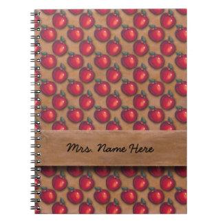 Manzanas rojas Brown Cuaderno
