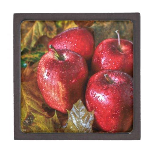 Manzanas rojas caja de regalo de calidad