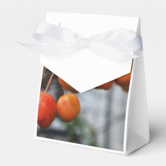Manzanas rojas del otoño cajas para detalles de boda