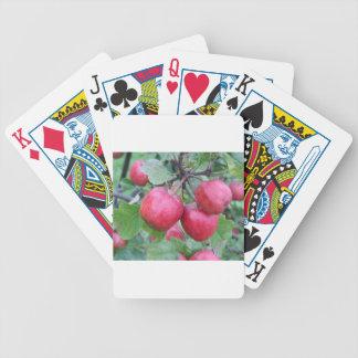 Manzanas rojas en el árbol baraja cartas de poker