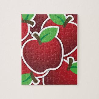 Manzanas rojas enrrolladas puzzle