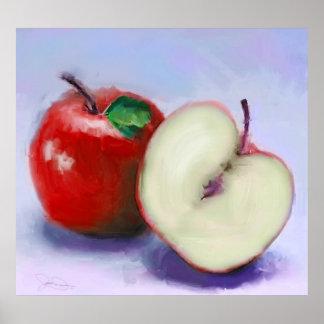 Manzanas rojas impresiones