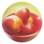 Manzanas rojas plato de comida
