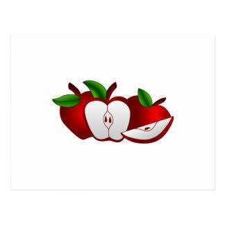 Manzanas rojas postales