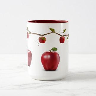 Manzanas rojas tazas