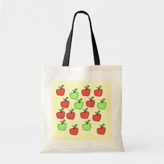 Manzanas rojas y manzanas verdes, modelo bolsa tela barata