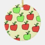 Manzanas rojas y manzanas verdes, modelo adorno de navidad