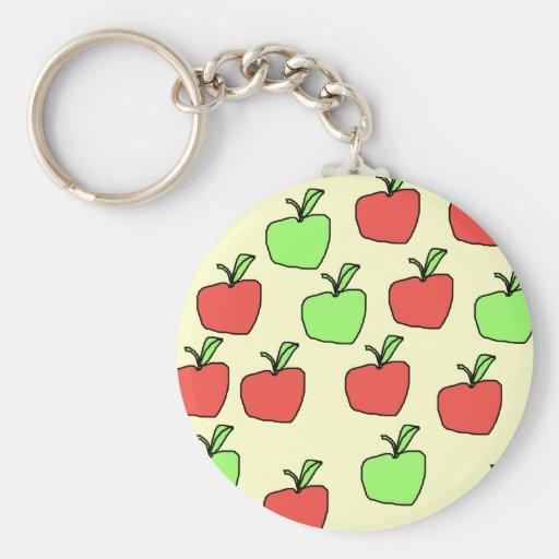 Manzanas rojas y manzanas verdes, modelo, en la cr llaveros