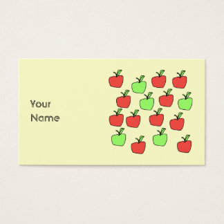 Manzanas rojas y manzanas verdes, modelo, en la tarjetas de visita
