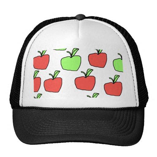 Manzanas rojas y manzanas verdes, modelo gorro