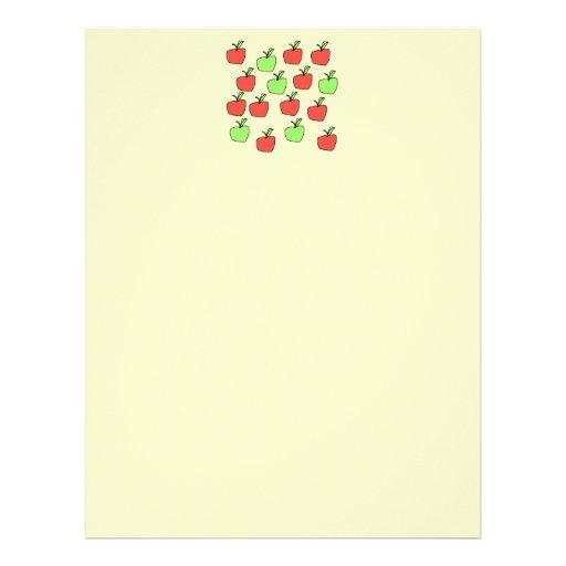 Manzanas rojas y manzanas verdes, modelo membrete
