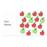 Manzanas rojas y modelo verde de las manzanas tarjetas de negocios