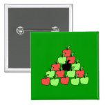 Manzanas rojas y verdes. Bolas de piscina, triángu Pins