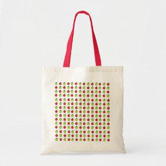 Manzanas rojas y verdes bolsa tela barata