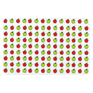 Manzanas rojas y verdes iman