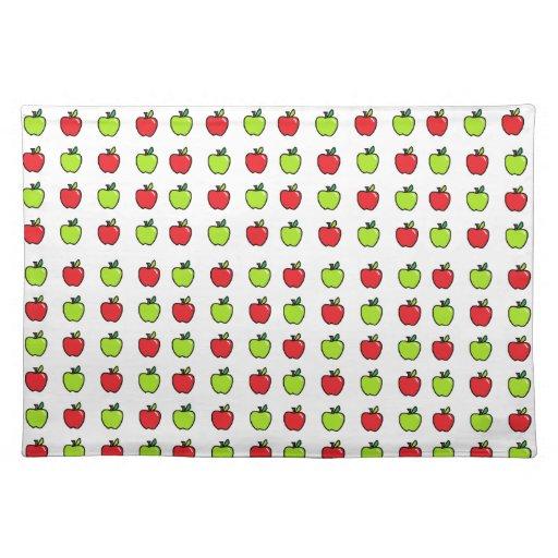 Manzanas rojas y verdes manteles