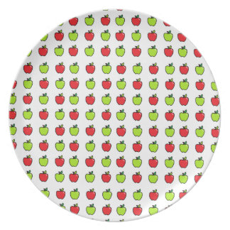 Manzanas rojas y verdes plato para fiesta