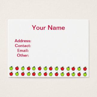 Manzanas rojas y verdes tarjetas de visita grandes