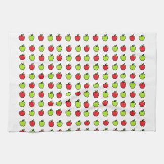 Manzanas rojas y verdes toalla de cocina
