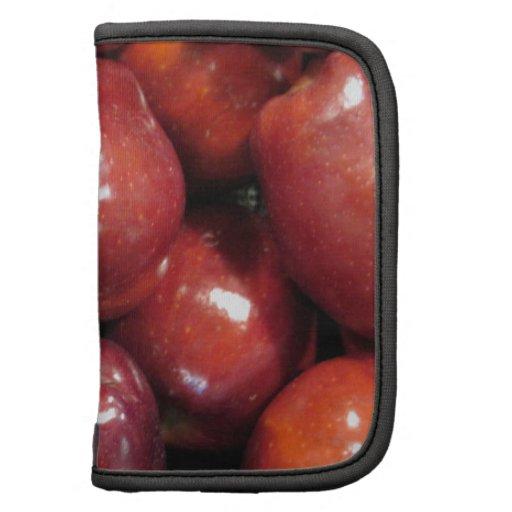 Manzanas rojo oscuro planificador