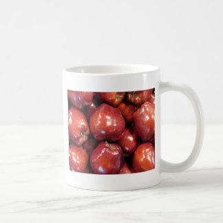 Manzanas rojo oscuro tazas