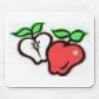 manzanas tapete de raton