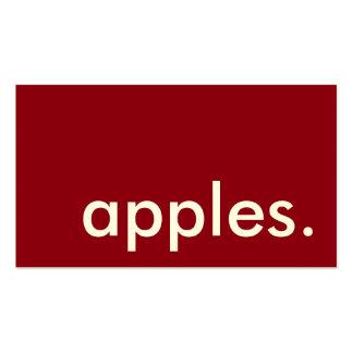 manzanas. tarjeta de sacador de la lealtad tarjetas de visita