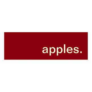 manzanas. tarjeta de sacador de la lealtad tarjetas de visita mini