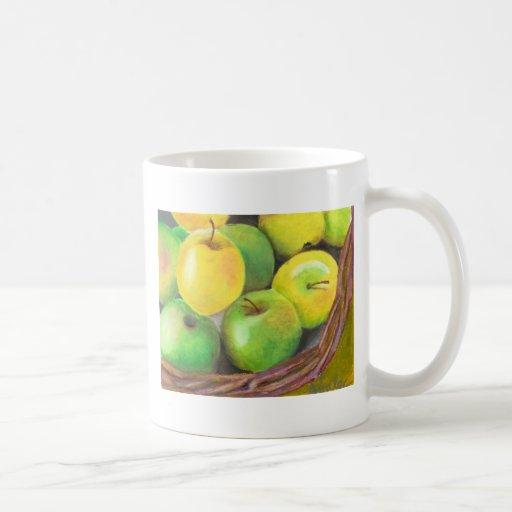 manzanas taza básica blanca