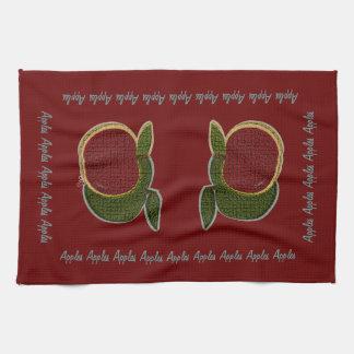 Manzanas texturizadas (arándano) toallas