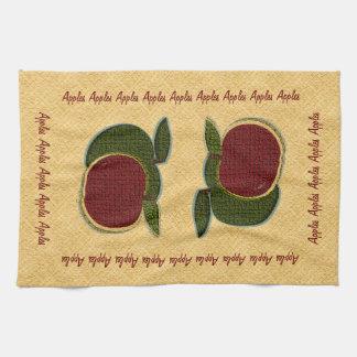 Manzanas texturizadas (oro) toallas