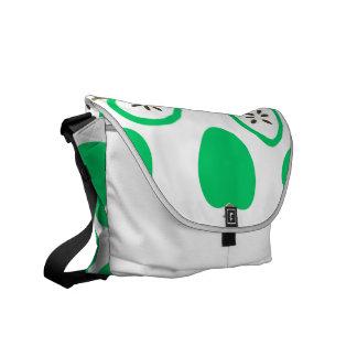 Manzanas verdes bolsa de mensajeria